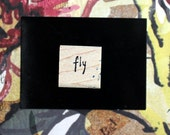 Nancy Curry Art hand-lettered fly stamp