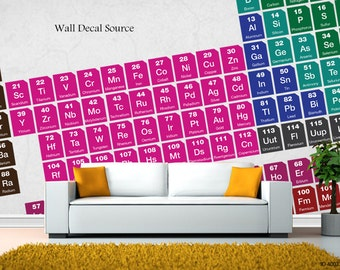 Periodic Table Wall Decals - Table of Elements Vinyl Stickers