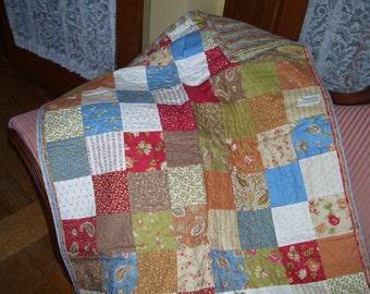 Folklorique baby or lap quilt