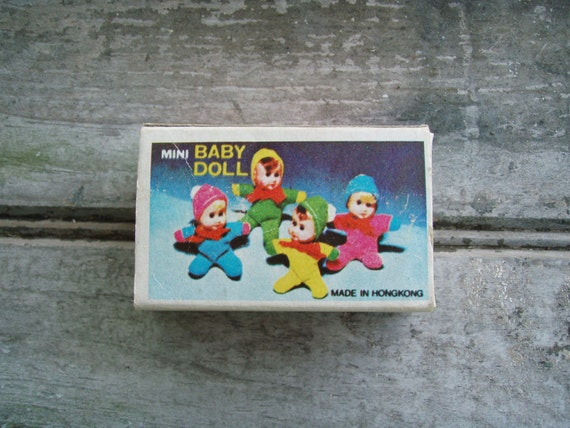 Vintage Mini Matchbox Bean Bag Baby Doll From The 1970s