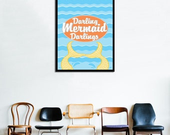 Pushing Daisies - Darling Mermaid Darlings Poster - 11x14