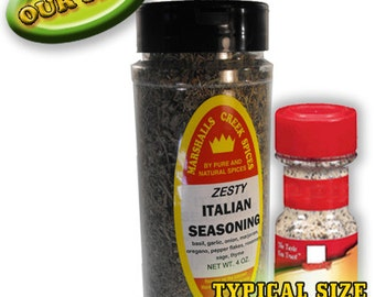 ZESTY ITALIAN SEASONING 4 oz., one price shipping, any quantity, any assortment
