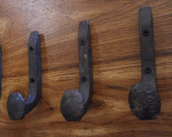 Free Shipping 3 Antique Horse Tack Hooks Old Railroad Spikes Heavy Duty Stable Barn Shoe Hangers Strong Antique Wall Hooks Railroad Spikes