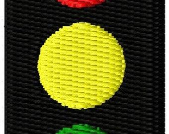 Traffic Light Mini Embroidery Design