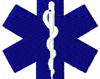 Medical Star Mini Embroidery Design