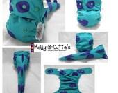 Dino /Sully Tail  Diaper- Semi Custom Order