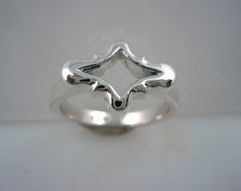 Sterling Silver Bracket Ring