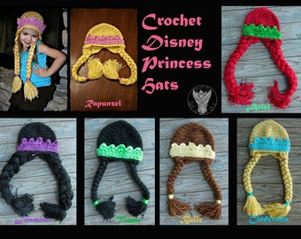 Crochet Disney Princess Hats