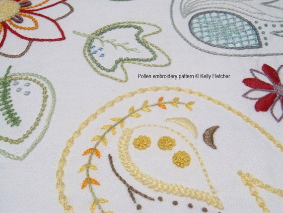Pollen Modern Hand Embroidery Pattern - Modern Embroidery PDF Pattern Digital Download From ...