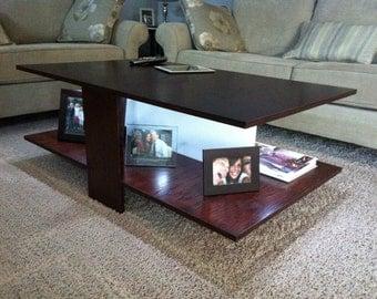 Custom Oak Coffee Table - ChrisONeillDesigns