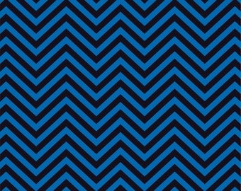 Blue and black chevron craft  vinyl sheet - HTV or Adhesive Vinyl -  zig zag pattern   HTV78