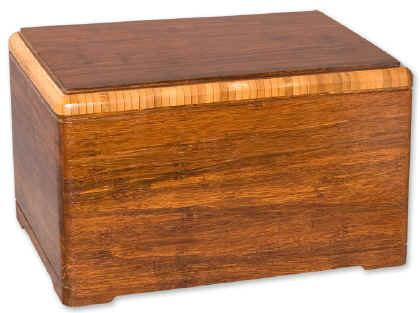 Bamboo Designer Wood Cremation Urn