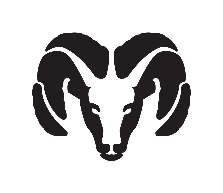 Dodge Ram Emblem Logo Truck Ram Head Window or Wall by ...