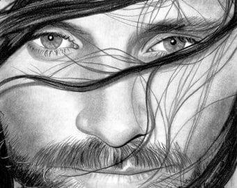 Drawing of Viggo Mortensen