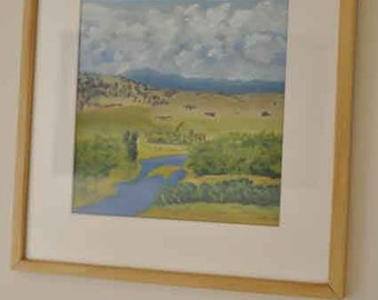 Upper Murray Victoria, Pastel Painting