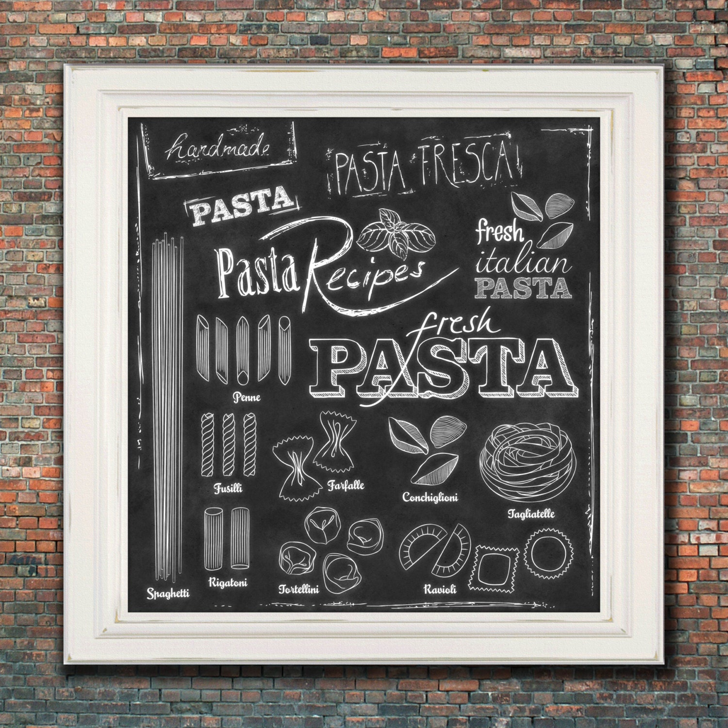 Wall Art Kitchen Chalkboard Print By TimelessMemoryPrints