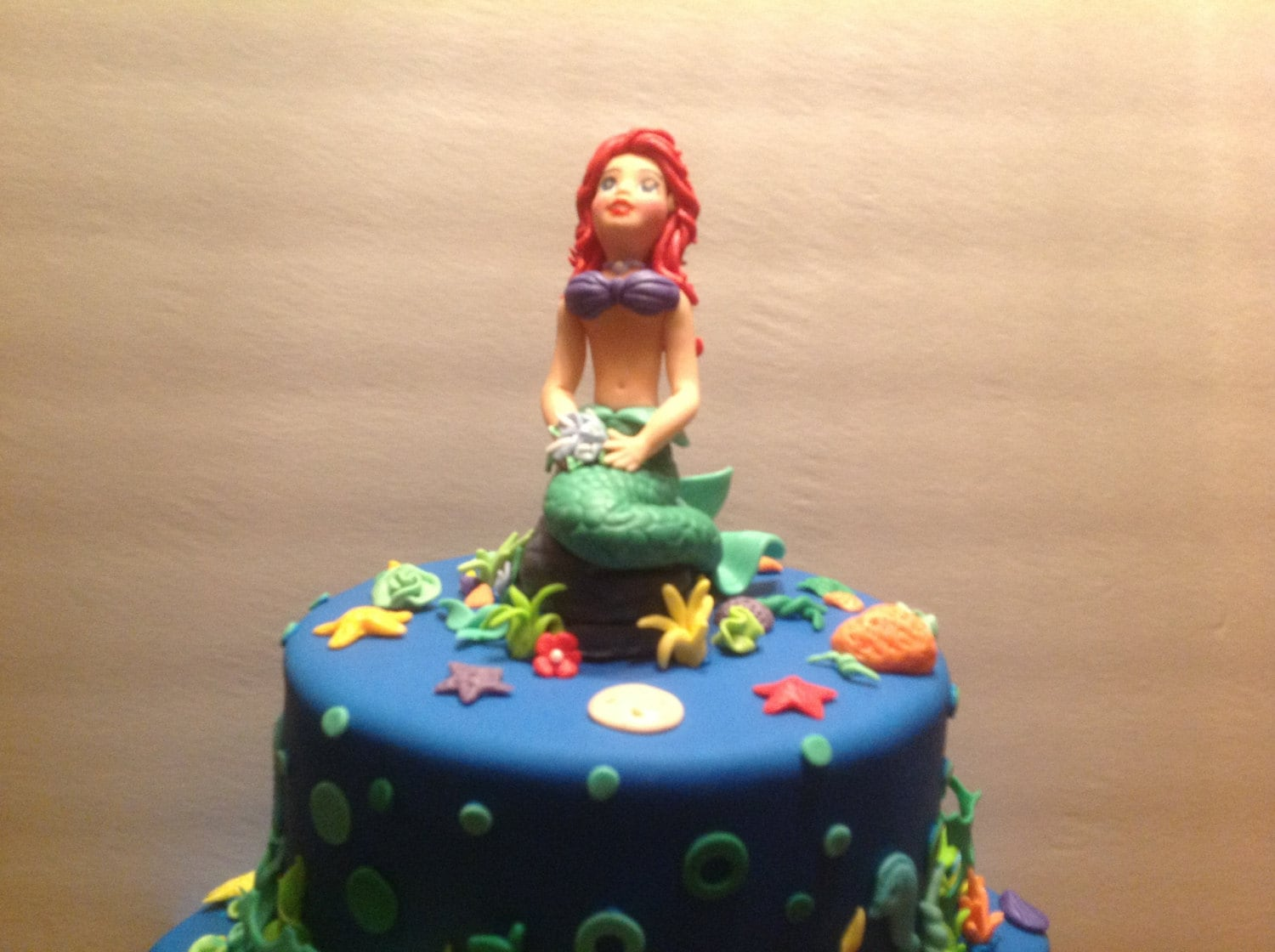 Little Mermaid Fondant Cake Topper by AfterHoursCakery on Etsy
