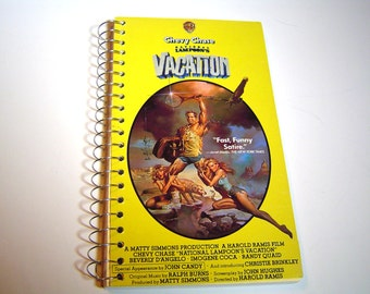 Vacation Upcycled VHS tape notebook agenda / planner notetook / VHS tape box notebook