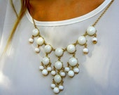 The Emily White Bubble Necklace - Designer Inspired. Lead and Nickel Free.