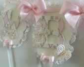 Name Banner / Baby Banner / Baby Girl Banner / Shabby Chic Banner / Shower Banner / Photo Prop /