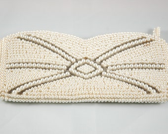 Vintage Purse Beaded Clutch made in Japan