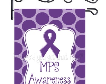 Custom Personalized Garden Sign MPS Awareness