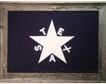 Light Barnwood Framed 2 x 3 foot Republic of Texas flag