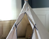 Canvas Paneled Teepee with Contrast Trim