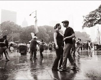 Dancing in the Rain - Black and White Photo Print - Art Photography (MP04)