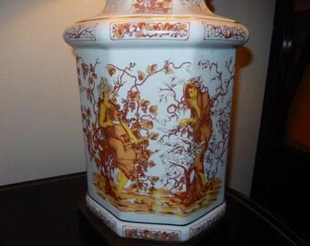 Hand Painted Lamp of Goddess Demeter.