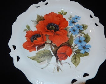 POPPY PLATE WALL Hanging