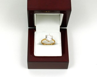 SALE - Glimmering Vintage Glass Diamond Ring