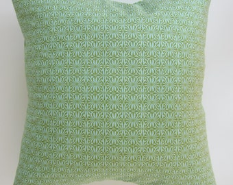 Pillow cover -  Green print, fits a 20x20 -  100% Cotton
