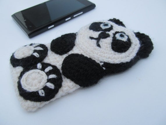 Panda crochet case, sleeve,