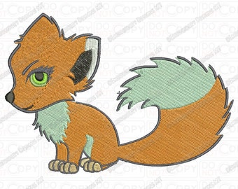 Fox Embroidery Design in 3x3 4x4 and 5x7 Sizes
