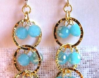 SWJ-GE/SE100  Seafoam Wave Gold or Silver Earrings