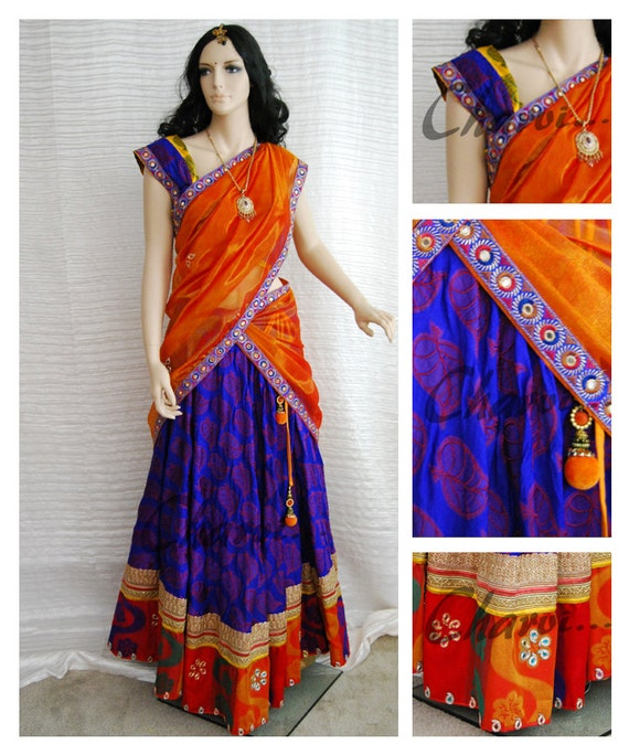 Indian Blouse And Skirt 56