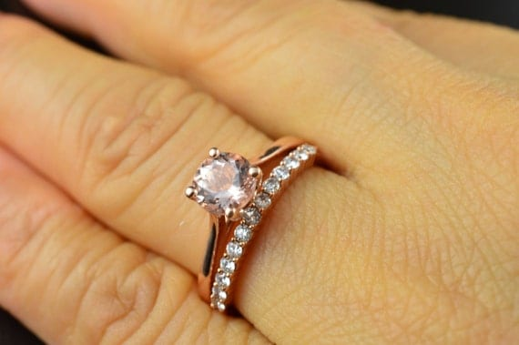 Emma Ruth Petite Ashley Set Morganite Engagement Ring in