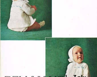 Bellmans 494 vintage baby angel top knitting pattern PDF
