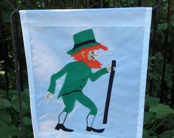 Leprechaun Garden Flag St. Patrick's Day Decor