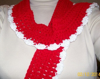 Long Scarf, Crochet, Handmade, OOAK, Casual Scarf, Fashion Scarves