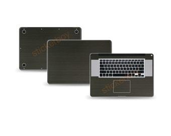 """Macbook Pro 17"""" 2nd Gen DECAL Sticker Skin Kit 3M Metal series by Stickerboy-Set 2"""