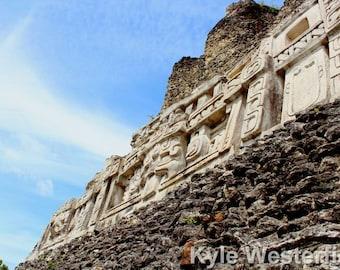 Mayan Ruins in Xunantunich, Belize, Photo Print, Sizes 5x7 to 24x36