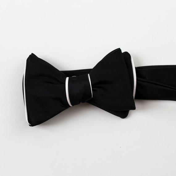 great gatsby style black and white formal bow by