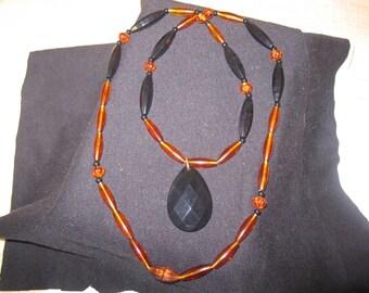 """Vintage Avon """"MIDNIGHT FIRE"""" Necklace"""