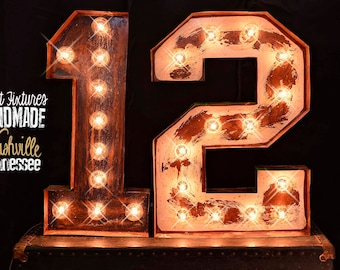one marquee letter marquee number lighted metal marquee sign marquee light marquee letter fixture vintage style marquee number sign