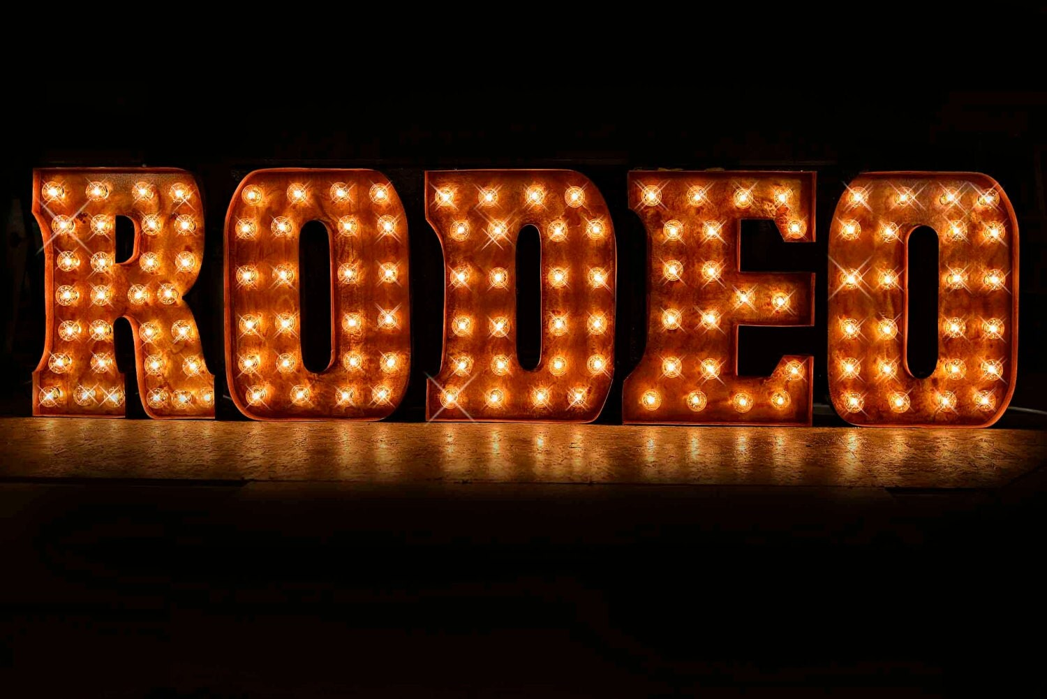5 letter package in double trouble font custom sign marquee With custom letter light sign