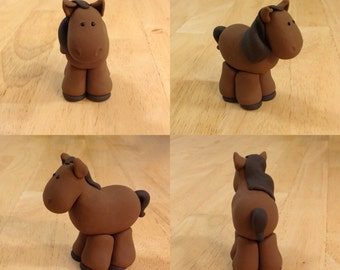 Nativity Horse- Polymer clay horse