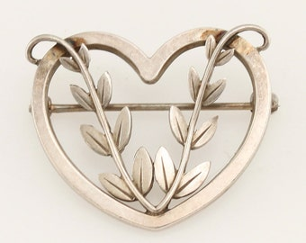 Georg Jensen silver brooch pin Number 242B Denmark
