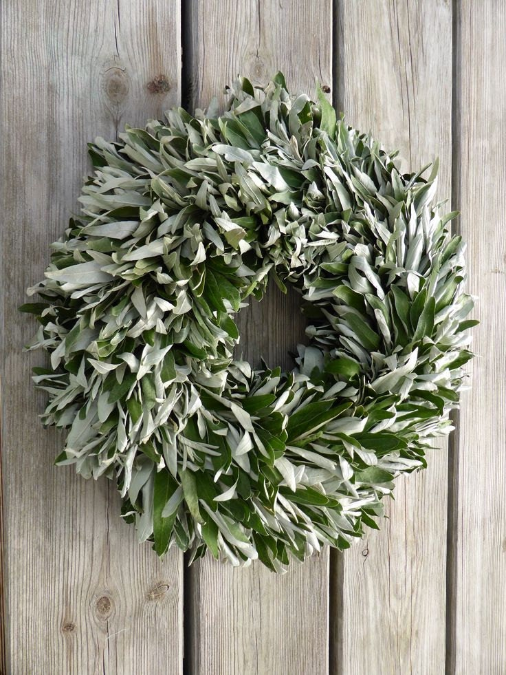 Natural olive branches wreath 16 home decor natural for Organic home decor